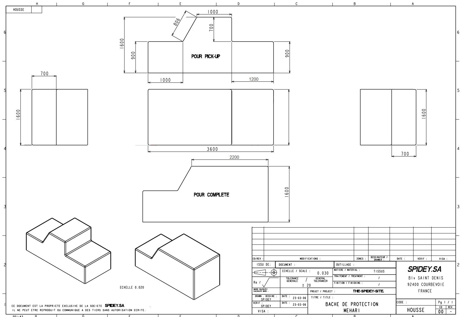 the spidey 39 s site bache de protection. Black Bedroom Furniture Sets. Home Design Ideas